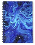 Acrylic Galaxy Painting Spiral Notebook