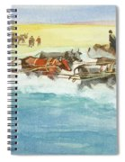 Action From A Ten Thousand Mile Motor Race Spiral Notebook