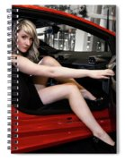 Action Red Spiral Notebook