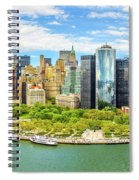 Aerial Panorama Of Downtown New York Skyline Spiral Notebook