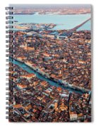 Aerial View Of Grand Canal, Venice, Italy Spiral Notebook