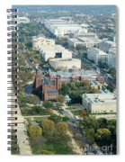 Aerial View Of Museums On The South Side Of The National Mall In Spiral Notebook