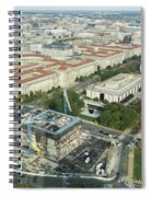Aerial View Of The Smithsonian National Museum Of African Americ Spiral Notebook