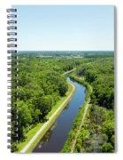 Aerial View Of Vegetation On Landscape Spiral Notebook