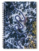 Aerial View Of Winding Mountain Road Through Forest Spiral Notebook