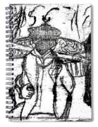 After Billy Childish Black Oil Drawing B2-5 Spiral Notebook
