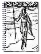 After Billy Childish Black Oil Drawing B2-7 Spiral Notebook