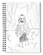 After Billy Childish Girl Pencil Drawing B2-16 Spiral Notebook