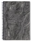 After Billy Childish Pencil Drawing 11 Spiral Notebook