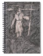 After Billy Childish Pencil Drawing 14 Spiral Notebook