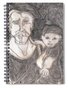 After Billy Childish Pencil Drawing 19 Spiral Notebook