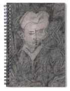 After Billy Childish Pencil Drawing 2 Spiral Notebook