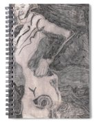 After Billy Childish Pencil Drawing 20 Spiral Notebook