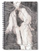 After Billy Childish Pencil Drawing 21 Spiral Notebook