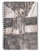 After Billy Childish Pencil Drawing 24 Spiral Notebook