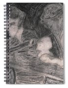 After Billy Childish Pencil Drawing 33 Spiral Notebook