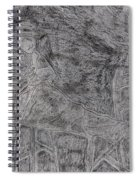 After Billy Childish Pencil Drawing 5 Spiral Notebook