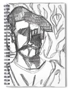 After Billy Childish Pencil Drawing B2-4 Spiral Notebook