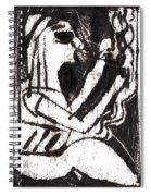 After Mikhail Larionov Black Oil Painting 1 Spiral Notebook