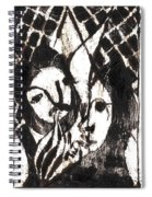 After Mikhail Larionov Black Oil Painting 14 Spiral Notebook