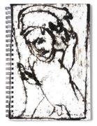 After Mikhail Larionov Black Oil Painting 16 Spiral Notebook