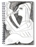 After Mikhail Larionov Pencil Drawing 1 Spiral Notebook