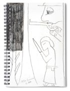 After Mikhail Larionov Pencil Drawing 10 Spiral Notebook