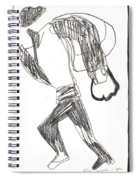 After Mikhail Larionov Pencil Drawing 12 Spiral Notebook
