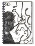 After Mikhail Larionov Pencil Drawing 13 Spiral Notebook
