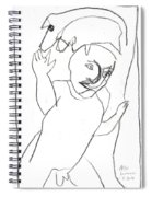 After Mikhail Larionov Pencil Drawing 16 Spiral Notebook