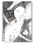 After Mikhail Larionov Pencil Drawing 6 Spiral Notebook