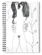 After Mikhail Larionov Pencil Drawing 7 Spiral Notebook