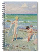 After The Swim  Oil On Canvas Spiral Notebook
