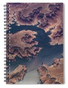 Air View Of Lake Powell Spiral Notebook