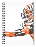 Aj Green Cincinnati Bengals Pixel Art 40 Spiral Notebook