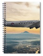 Alaska Airlines Dc-3 Over Seattle Spiral Notebook