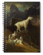 Albert_bierstadt_-_rocky_mountain_goats Spiral Notebook
