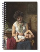 Alexei Harlamoff,  Portraif Of Sisters Spiral Notebook