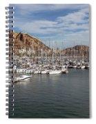 Alicante Marina And The Santa Barbara Castle Spiral Notebook