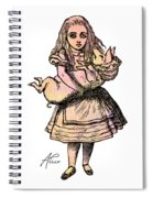 Alice And The Pig Spiral Notebook