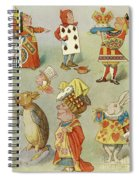 Alice In Wonderland Characters Spiral Notebook