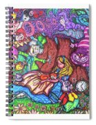 Alice In Wonderland  Spiral Notebook