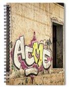 Alley Graffiti And Windows - Romania Spiral Notebook