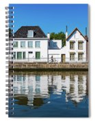 Along The Canal. Flanderenfietsroute.   Spiral Notebook