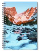 Alpenglow At Dream Lake Rocky Mountain National Park Spiral Notebook