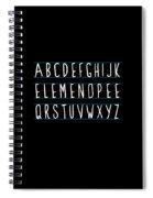 Alphabet Elemeno Spiral Notebook