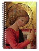 Altarpiece Angel Antique Christian Catholic Religious Art Spiral Notebook