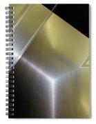Aluminum Surface. Metallic Geometric Image.   Spiral Notebook