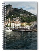 Amalfi Town Seen From Ferry Approaching Spiral Notebook