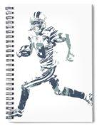Amari Cooper Dallas Cowboys Pixel Art 3 Spiral Notebook